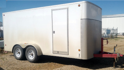 Cjay  7 foot x 12 foot enclosed trailer